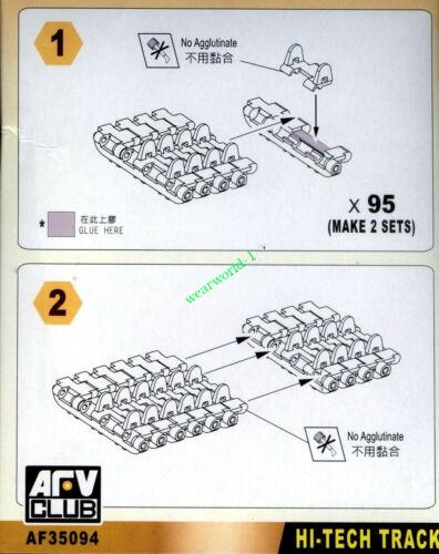 AFV Club AF35094 1//35 WORKABLE Track link for WWII German Tiger I Early Version