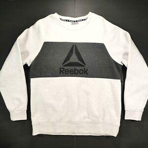Tranvía Cordelia Contestar el teléfono  Adidas Sweatshirt Mens XL Gray Long Sleeve Pullover Crew Neck Crossfit  Apparel | eBay
