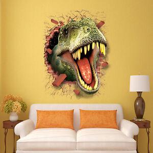 Details zu Wandtattoo Wandbild Wandaufkleber Kinderzimmer Dinosaurier  Sticker Junge Neu#104