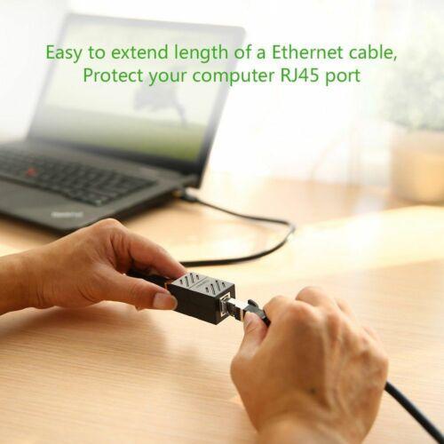 5PCS RJ45 Inline Coupler Cat7 Cat6 Cat5e Ethernet LAN Network Cable Adapter US