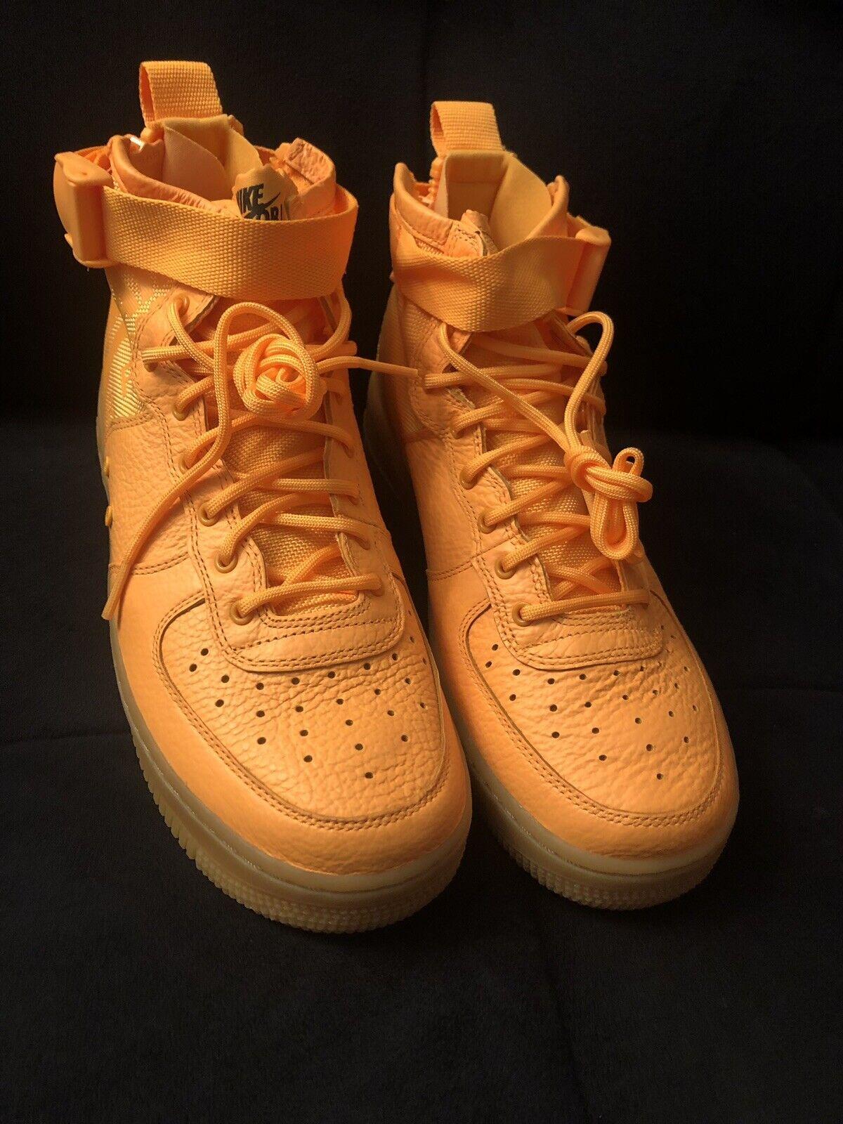 best website 35b44 725a7 Nike SF Af1 Special Air Force 1 Mid Obj Odell Beckham Jr Laser Orange
