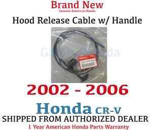 genuine oem honda cr  hood release cable  handle   crv ebay