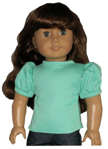 Pink Orange Yellow Mint Puffy Sleeve Tee T-Shirt fits American Girl Size Doll
