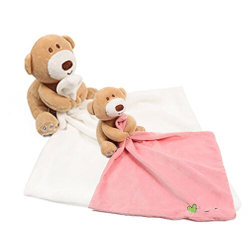 Baby Kids Comfort Soft Hugs Blanket Cute Bear Plush Stuffed Washable Smooth New