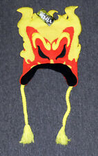 NWT ICP Insane Clown Posse Jake Jeckel YELLOW ORANGE FLAME Knit Laplander BEANIE