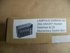 Lamphus Swbx42 12vdc 4 Rocker Switches Amp 2 Momentary Switch Control Box