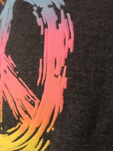 3d Rilievo Di Usa Vintage Colorati Segno Arcobaleno Pace Felpa In xpgqBaz