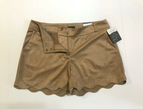 38 inch w// Pocket Size # 15//16 maurices Women/'s Smart Shorts Taupe Faux Suede