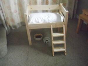 Cutest Wooden / pine High Single Bed pour votre chat ou votre petit chien