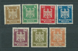 Alemania-Empire-Mail-1924-Yvert-348-54-MH-Mng