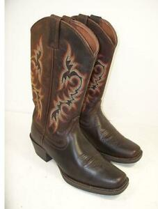 Men S Justin 2552 Stampede 13 Quot Square Toe Cowboy Boots 8 5