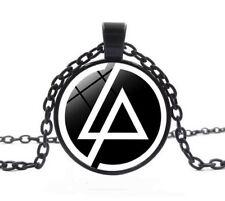 Vintage Retro Punk Style Linkin Park Inspired Symbol Logo Chain Pendant Necklace