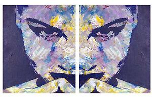 A0-SIZE-CANVAS-x2-modern-painting-diptych-Street-Art-Print-girl-woman-face