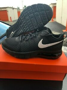 low price new arrival utterly stylish Details about New Men's Nike Air Max TR180 TB 723991 010 Black White  Running Shoes Size 7