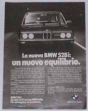 Advert Pubblicità 1978 BMW 528i SERIE 5 E12