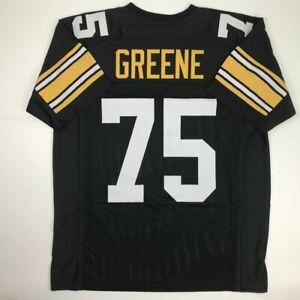 New-MEAN-JOE-GREENE-Pittsburgh-Black-Custom-Stitched-Football-Jersey-Size-Men-XL