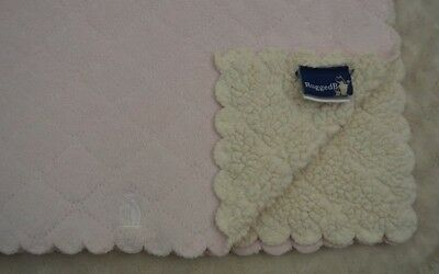 Rugged Bear Baby Blanket Pink Cream Off