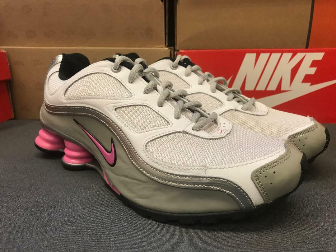Youth   Womens Nike Shox Turbo Turbo Turbo NZ Sneakers New, White   Pink 36880-161 sku a9f170