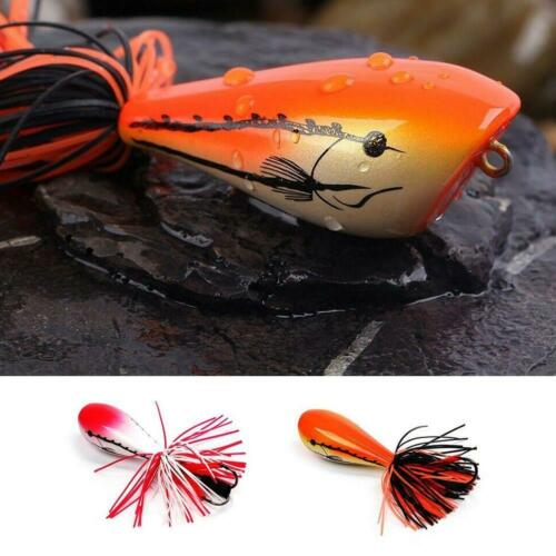 Jumping Frog Lure Topwater Lure 90mm 10g Double Strong Hook Jump Action R5B0