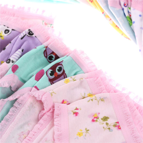 Fashion Cute Baby Girls Soft Cotton Underwear Panties Kids Underpants Cloth neQP
