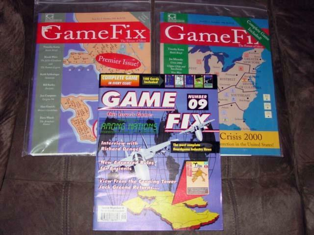 (3) GAME FIX Magazines - Issues. Games in One   Unpunched