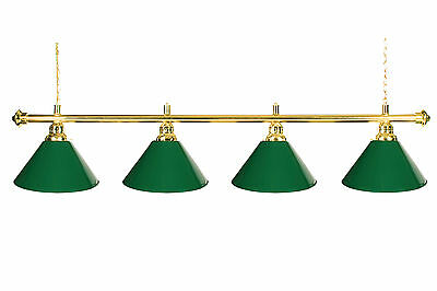 """72/"""" Pool Table Light Billiard lamp  Black With Metal Shades For 9/' Table"""