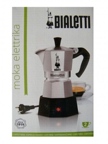 0002778-mr Bialetti Moka Elettrika 2 Tasses Espresso Réchaud 230 V
