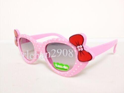 N47 Kids//Children Twin Bling Bling Bows Lovely Dots Sunglasses