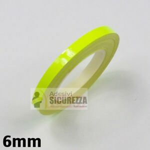 3M™ Yellow 7mm x 6M Fluorescent Motorbike/Car Wheel Rim Vinyl Stripes/Stickers !