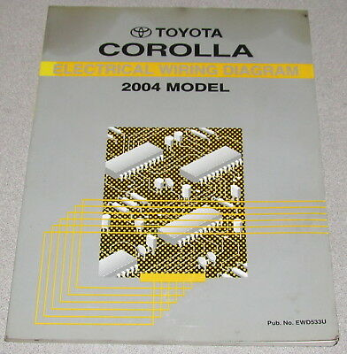2004 toyota corolla electrical wiring diagram service manual ebay rh ebay co uk 2004 toyota corolla alternator wiring diagram 2004 toyota corolla electrical wiring diagram