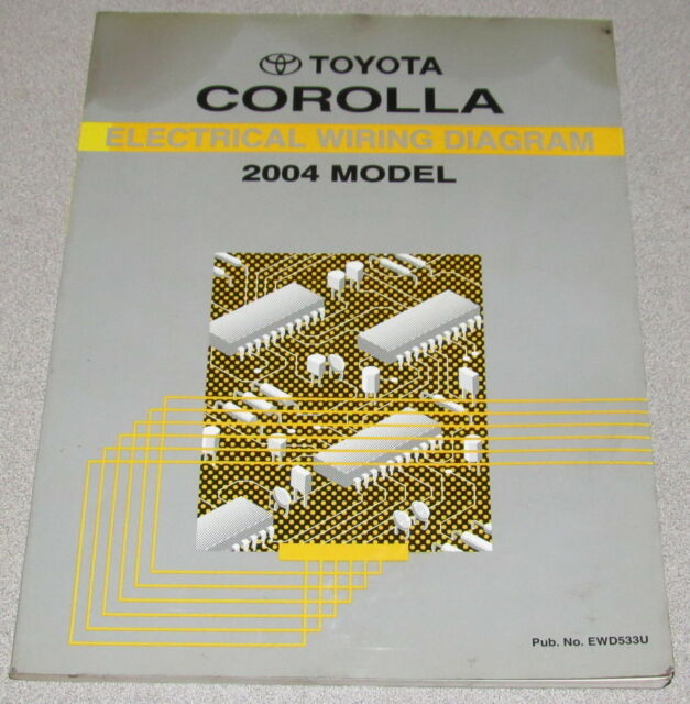 2004 Toyota Corolla Electrical Wiring Diagram Service