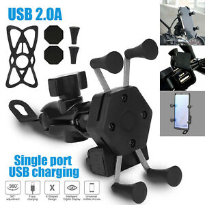 Universal-360-Motorcycle-Bicycle-Handlebar-USB-Cell-Phone-Mount-Holder-Charger
