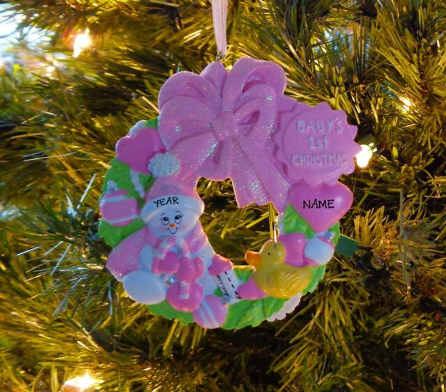 babys first personalized christmas baby ornament baby girl 1st ornament