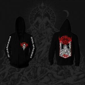 ARCHGOAT-The-Luciferian-Crown-HOODED-ZIP-FRONT-SWEATSHIRT-SIZE-SMALL