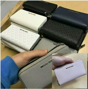 NWT Michael Kors Jet Set Travel Large MF Phone Flat Case Wallet Purse Wristlet