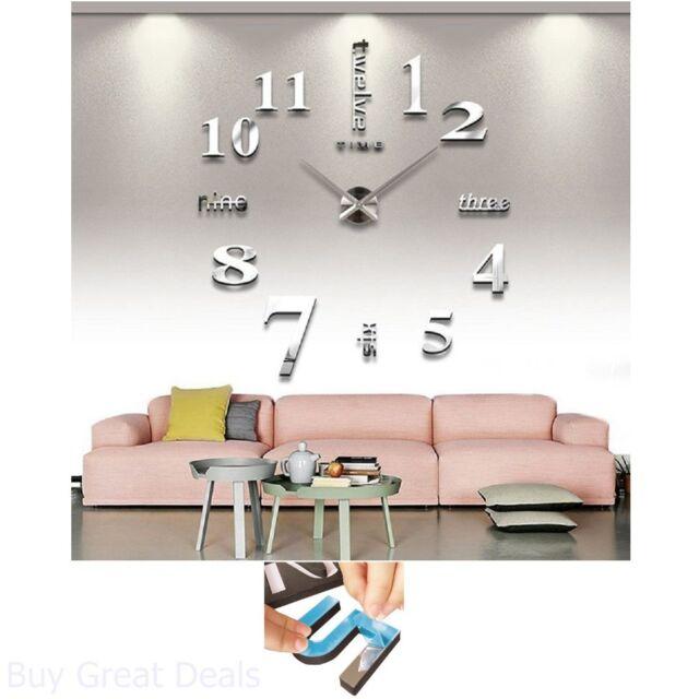 Diy Wall Clock For Living Room Bedroom