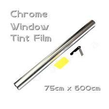 6M x 75cm Car Auto Van Chrome Silver Window Tint Film OneWay Mirror Tinting Foil