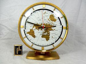 Grosse-KUNDO-Weltzeituhr-Tisch-Uhr-world-timer-table-clock-Elvis-Graceland