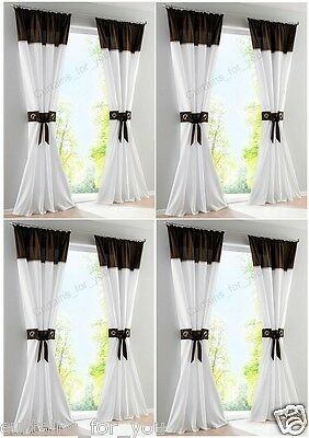 MODERN HIGH QUALITY VOILE PANEL 9 COLOURS AVAILABLE 7 LENGTHS
