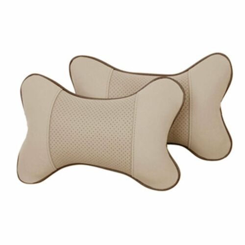 1pc Car Seat Headrest Pad Memory Foam Leather Head Neck Rest Cushion Pillow