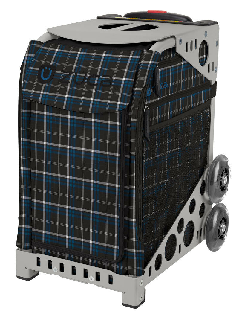 ZUCA Bag IMPERIAL  PLAID Insert & G  Frame w Flashing Wheels - FREE CUSHION  wholesape cheap