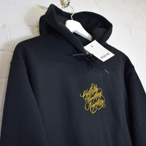 Actual Fact Cash Rules Everything CREAM Hip Hop Black Hoody Hooded Top