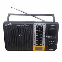 Supersonic Portable 5 Band Am/fm/sw1/sw2/tv Usb Sd Mp3 Player Ac/dc