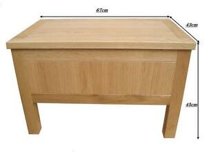 Image Is Loading Oak Storage Box Coffee Table Toy Blanket