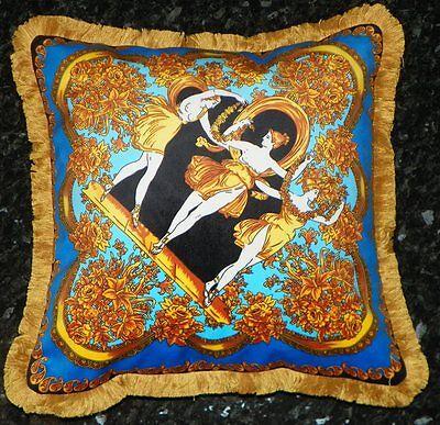 Italienisches Luxus Dekokissen Pillow 50x50 cm Zeus Rossetto Mäander Meander