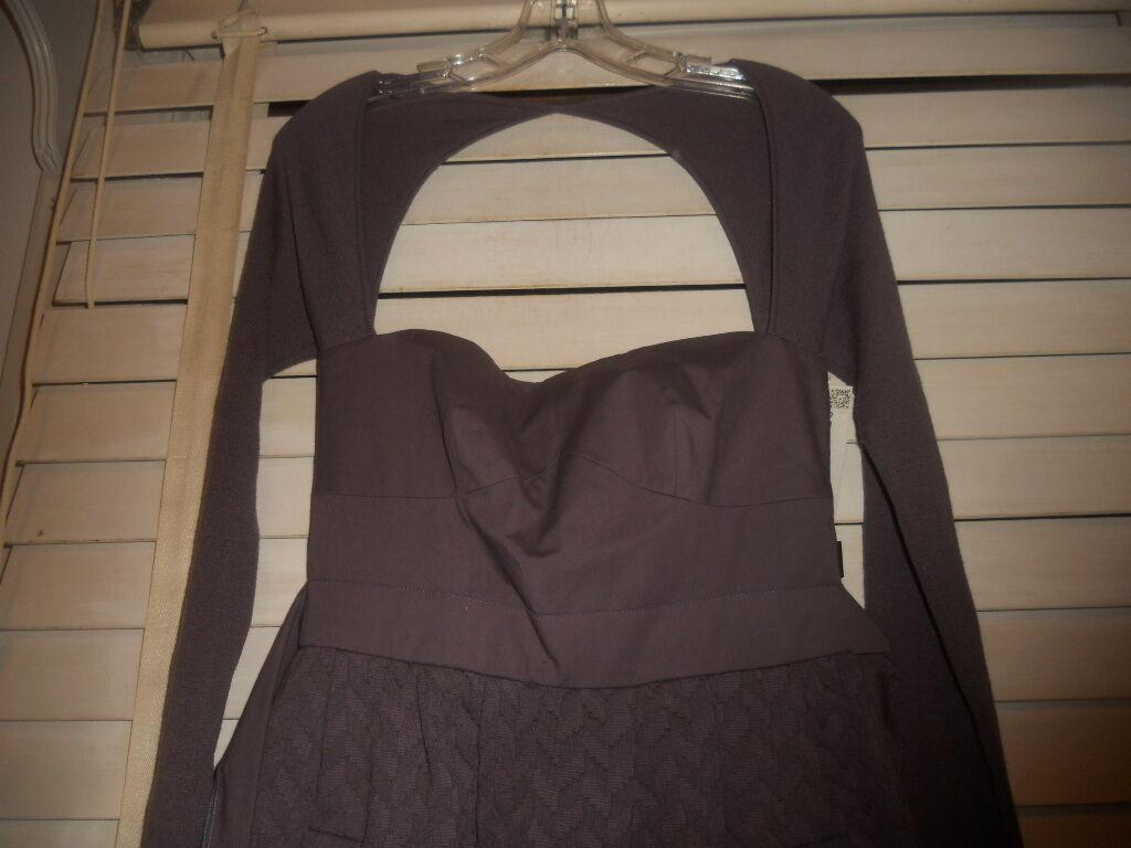 NWT M Missoni  Art to Wear Wear Wear Dusty Lavender Partial Knit Fitted Dress  40 79d0b8