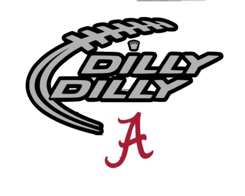 Alabama # 36 Dilly Dilly T Shirt Iron On 5 x 7 or 8 x 10