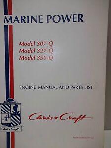 MARINE POWER Model 307Q Model 327Q Model 350Q Engine Manual and Parts List  | eBay