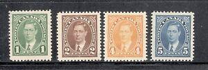 CANADA-1935-SC-231-232-234-235-King-George-VI-Mufti-MOGH-CV-VF-12-00
