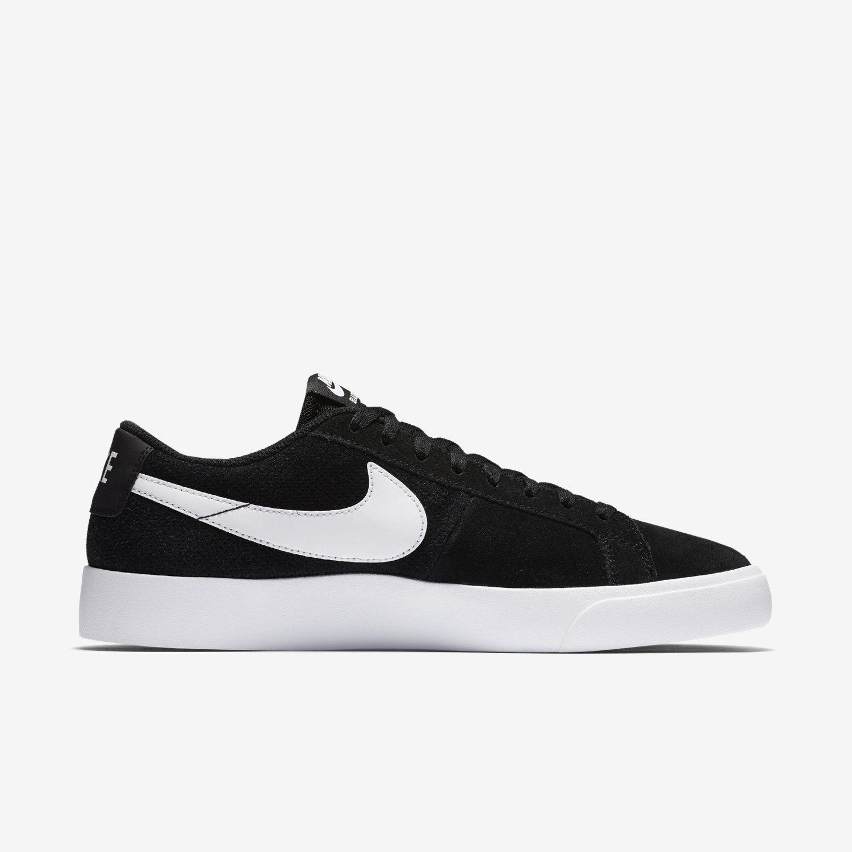 new styles 37002 717c5 Nike SB Zoom Blazer Vapor Homme en daim noir blanc Chaussures De Skate Neuf  Taille UK 9